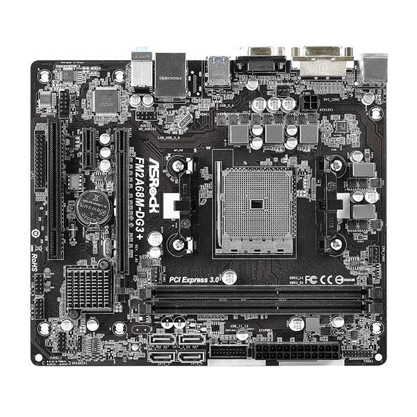 ASRock FM2A68M-DG3+ FM2+ Motherboard FM2 AMD A68H FCH (Bolton D2H) SATA 6Gb/s USB 3.0 Micro ATX AMD