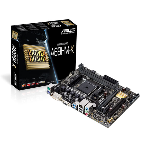 ASUS A68HM-K mATX Motherboard FM2+ Socket Support AMD Athlon/A- Series Processors