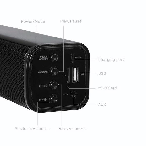 Zebronics Vita Plus Portable Speaker Support Bluetooth, FM, SD Crad, Aux(Black)
