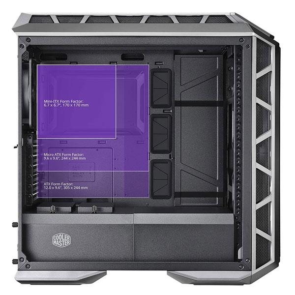 Cooler Master MasterCase H500P Mesh ARGB Cabinet (Gun Metal Grey)