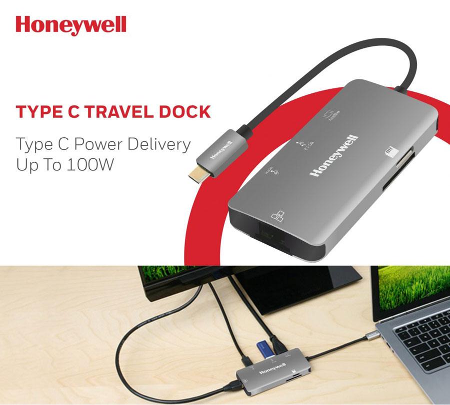 Honeywell Type C 3.1 Travel Dock, Silver