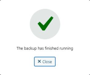 WordPress Website Backup Successful
