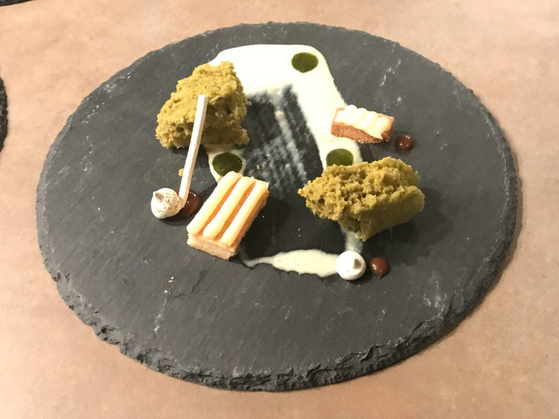 Deconstructed Matcha White Chocolate Gateau