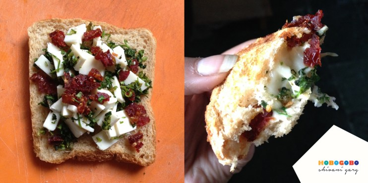 Recipe-for-cheese-toastie-sundried-tomatoes-cilantro