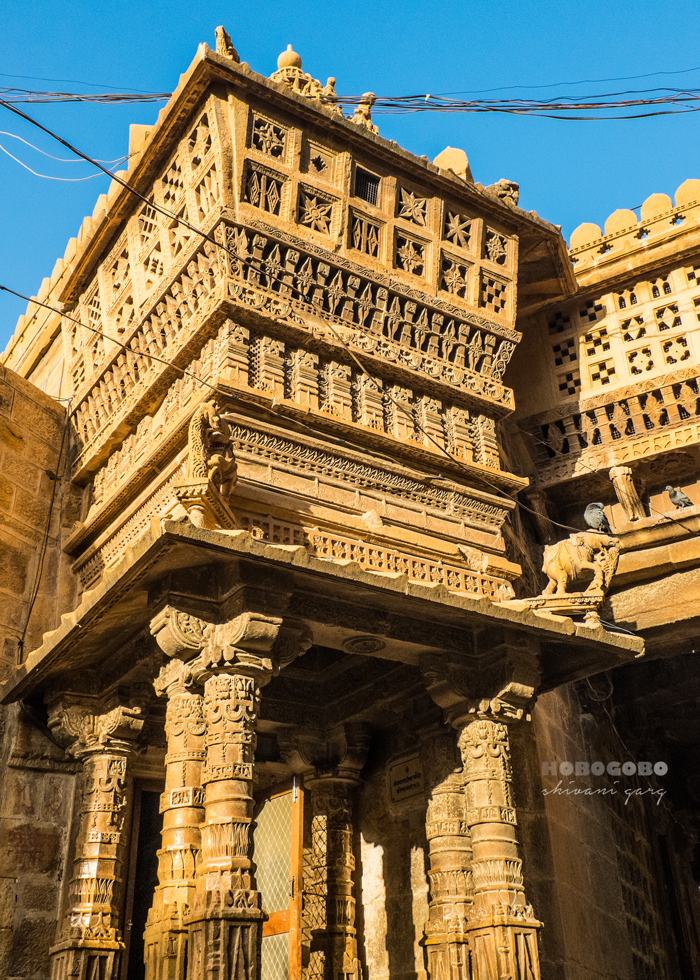 jaisalmer fort architecture seen at Jain Temple inside the Golden Fort
