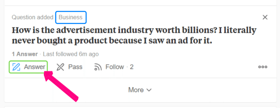 Suggested question by Quora based on the topics you selected.