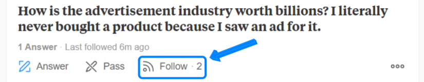 How to follow Quora questions.