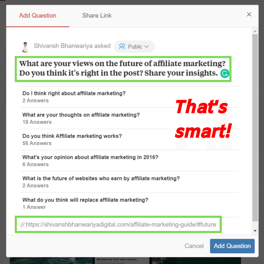 Adding link to your post while asking questions for better context.