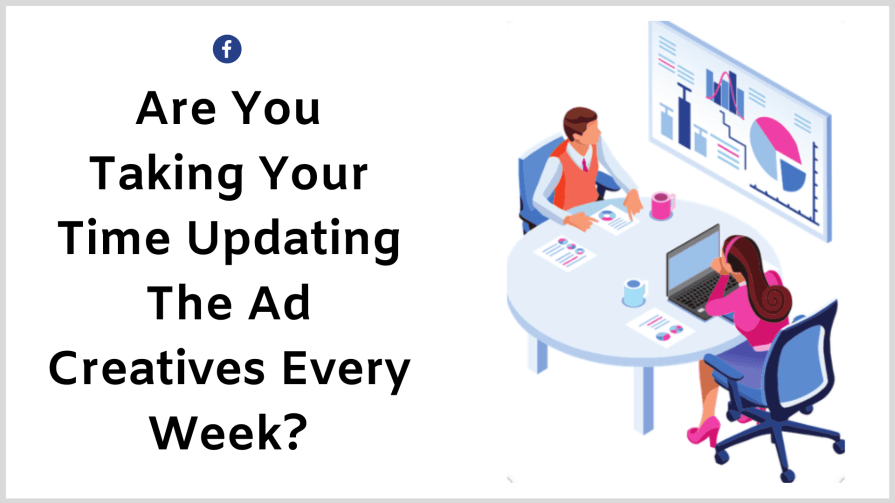 Facebook ads mistakes: try various different ad creatives every week and you'll find better results.