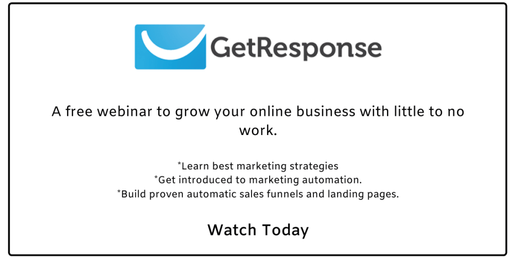 Grow your business with GetResponse.