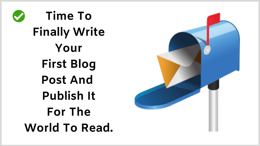 How to start a blog: Write your blog post.