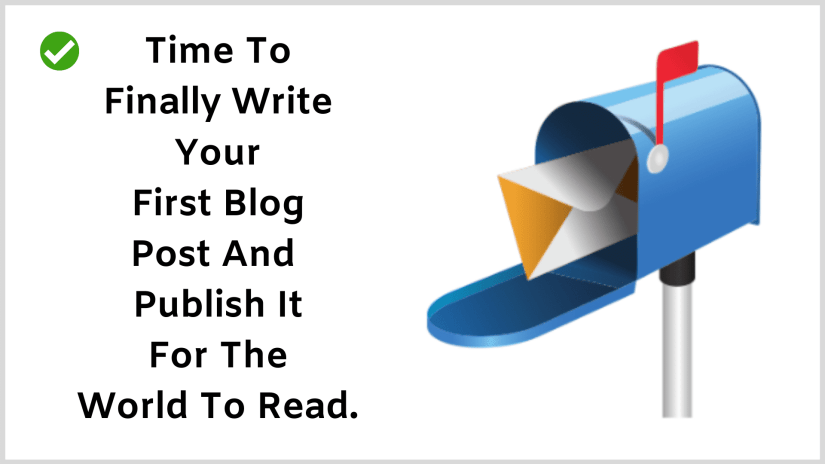 Write you first blog post.
