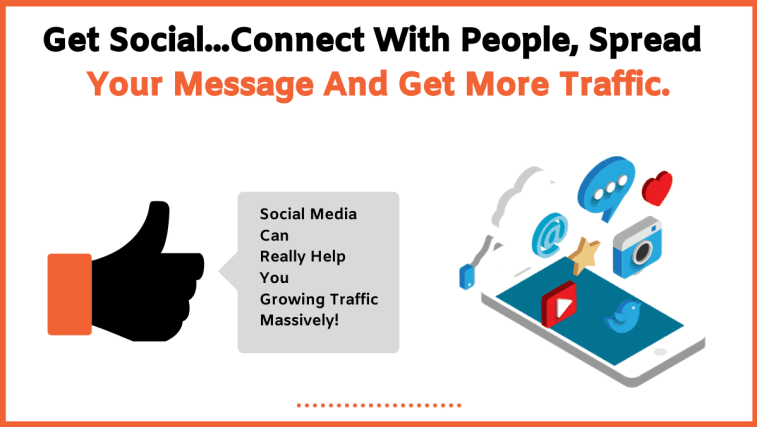 Increase your website traffic with social media.
