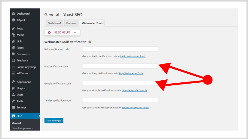 Manage your SEO with Yoast.