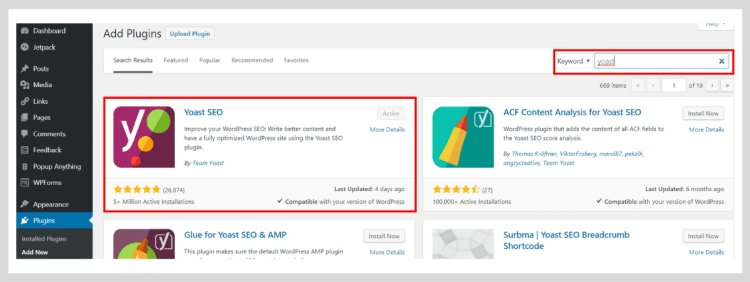 Install the Yoast SEO plugin for better results.