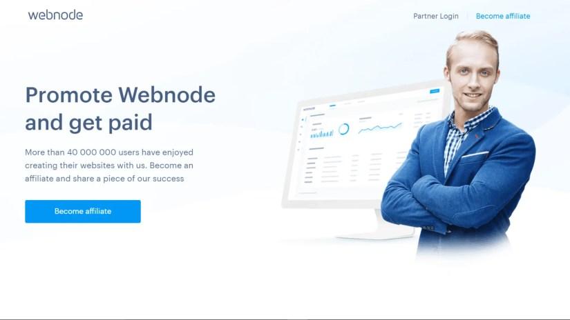 Website builder affiliate programs: Webnode