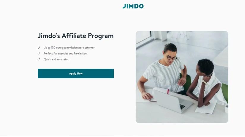 Website builder affiliate programs: Jimdo