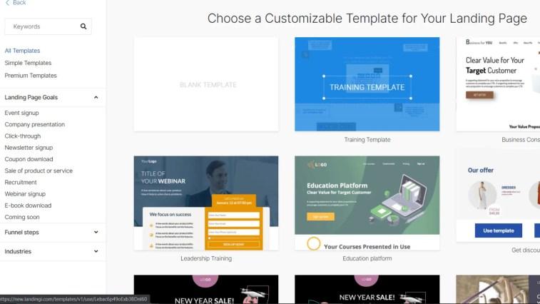 Landingi design templates