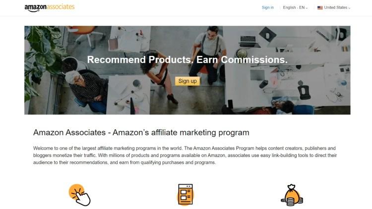 Amazon Associates Online Retailer Affiliate Programs