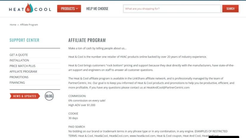 HVAC Affiliate Programs