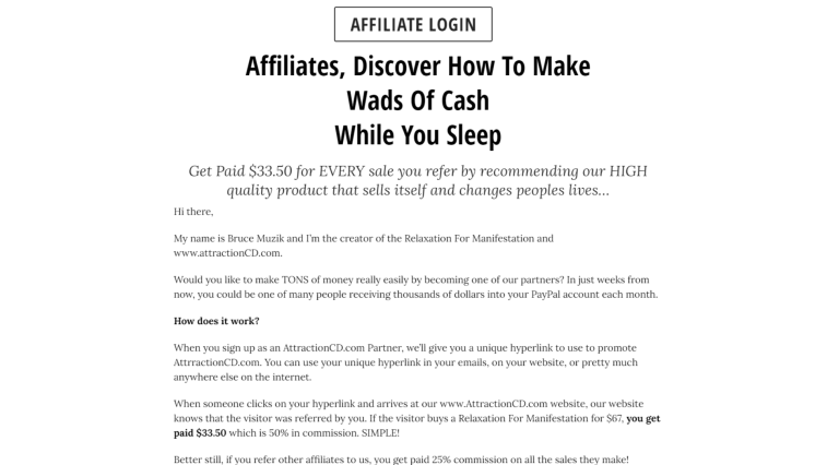 Best Law Of Attraction Affiliate Programs