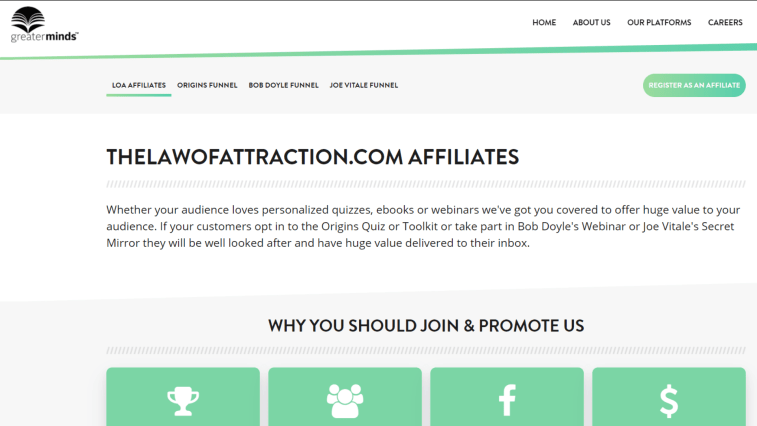 Law Of Attraction Affiliate Programs