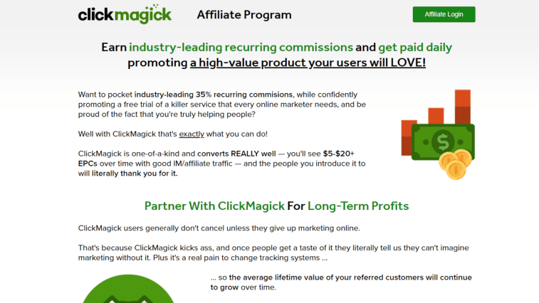 Best Affiliate Programs That Pay Daily: ClickMagick