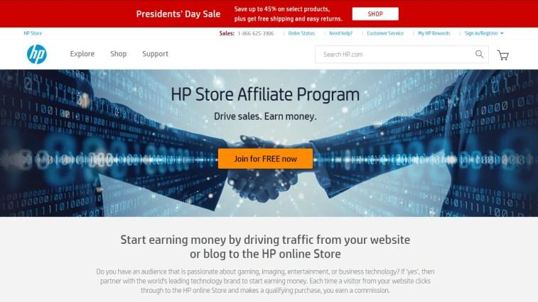Best Laptop Affiliate Programs: HP