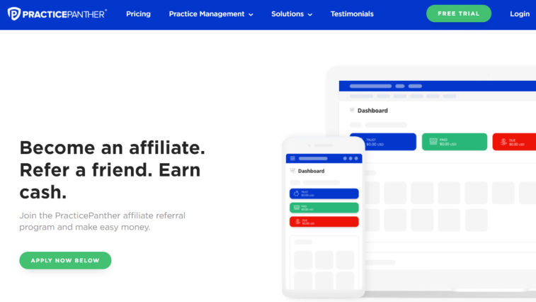 Affiliate Programs That Pay Daily: PracticePanther