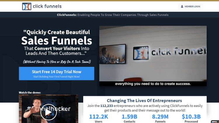 Leadpages Alternatives: ClickFunnels