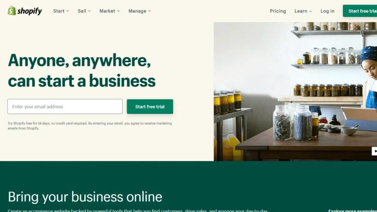 Weebly alternatives: Shopify