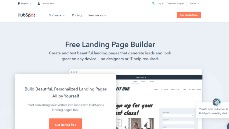 Free Leadpages Alternatives: HubSpot