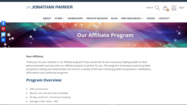 Jonathan Parker Affiliate Program