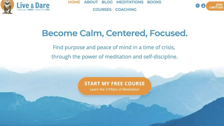 Top Meditation Affiliate Program: Live and Dare