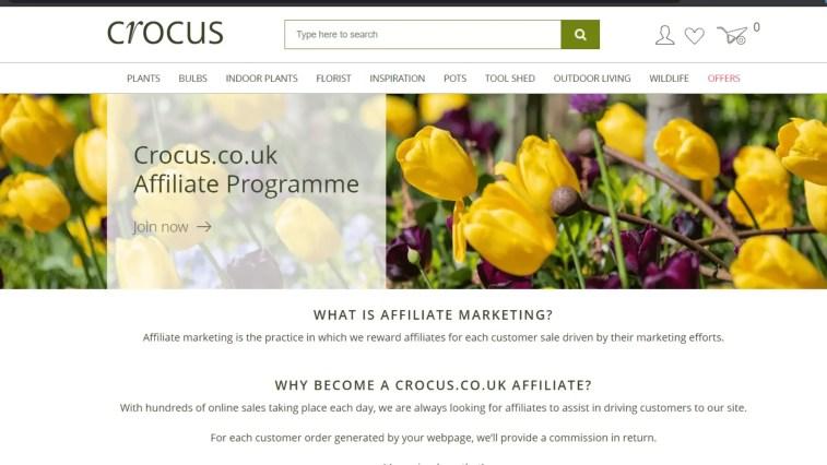 Gardening Affiliate Programs: Crocus