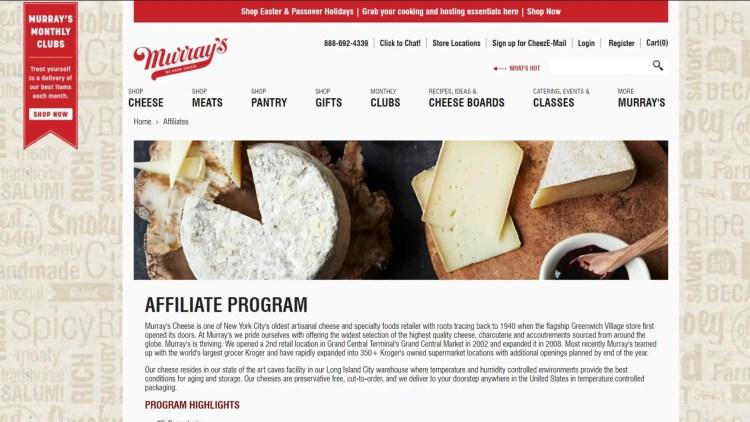 best food affiliate programs