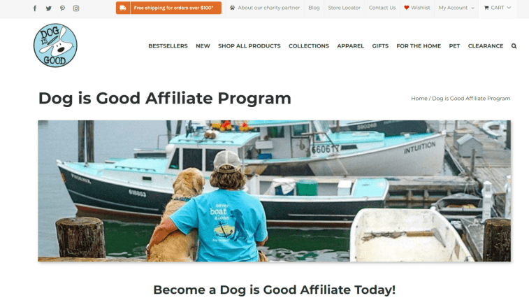 Best Dog Affiliate Programs: Dog is Good