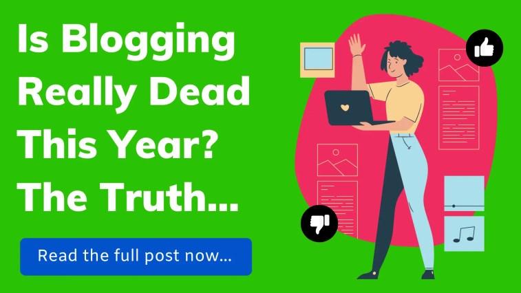 Is blogging dead.