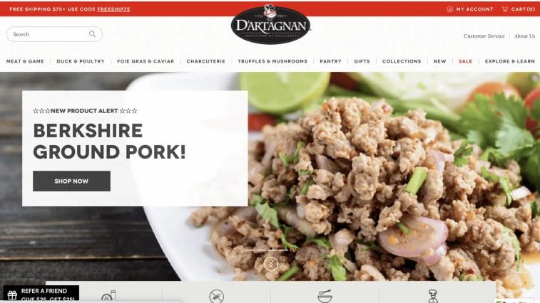 Gourmet Food affiliate programs: D'Artagnan