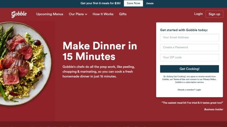 Best meal kit affiliate programs: Gobble