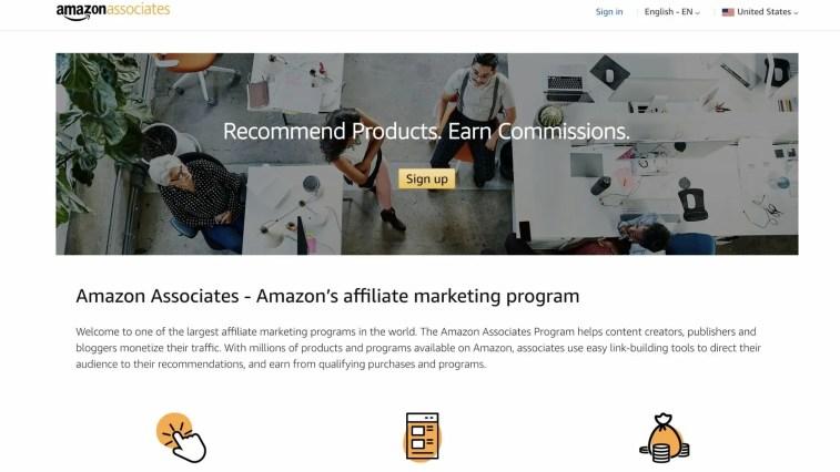 Amazon Associates: Coffee affiliate programs