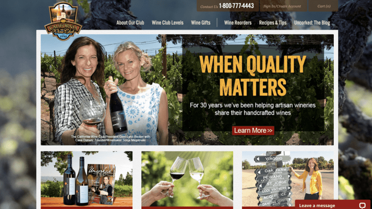 The California Wine Club affiliate program