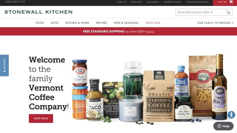 Gourmet Food affiliate programs: Stonewall Kitchen