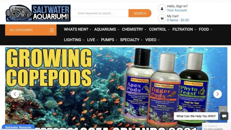 Saltwater Aquarium affiliate program