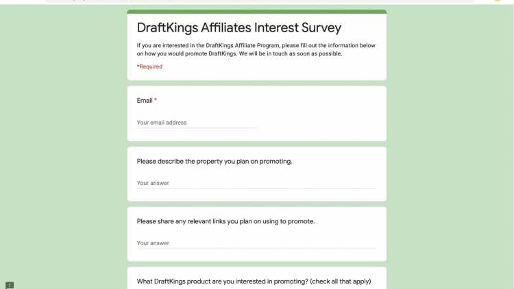 DraftKings affiliate program join