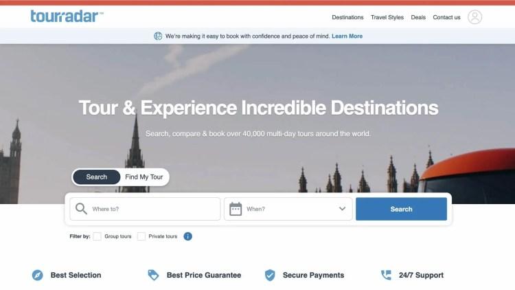 TourRadar affiliate program