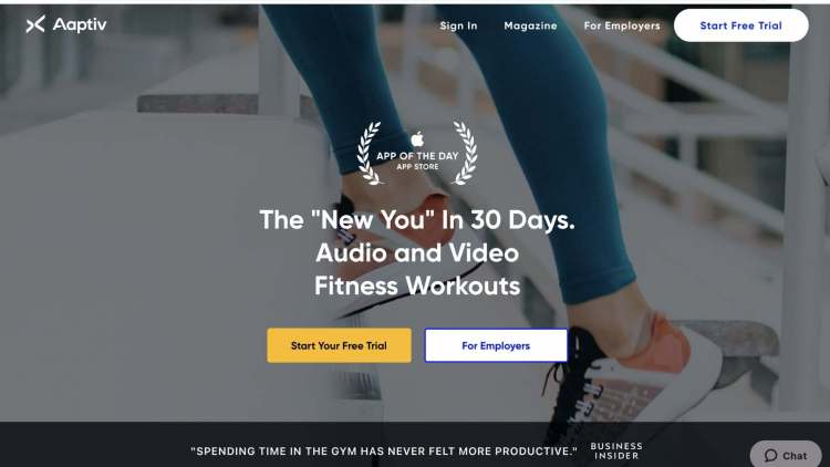 workout affiliate programs: Aaptiv