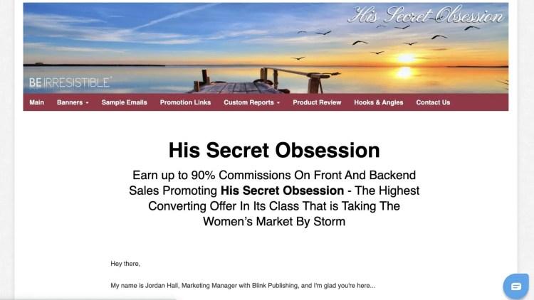 His Secret Obsession Affiliate Program