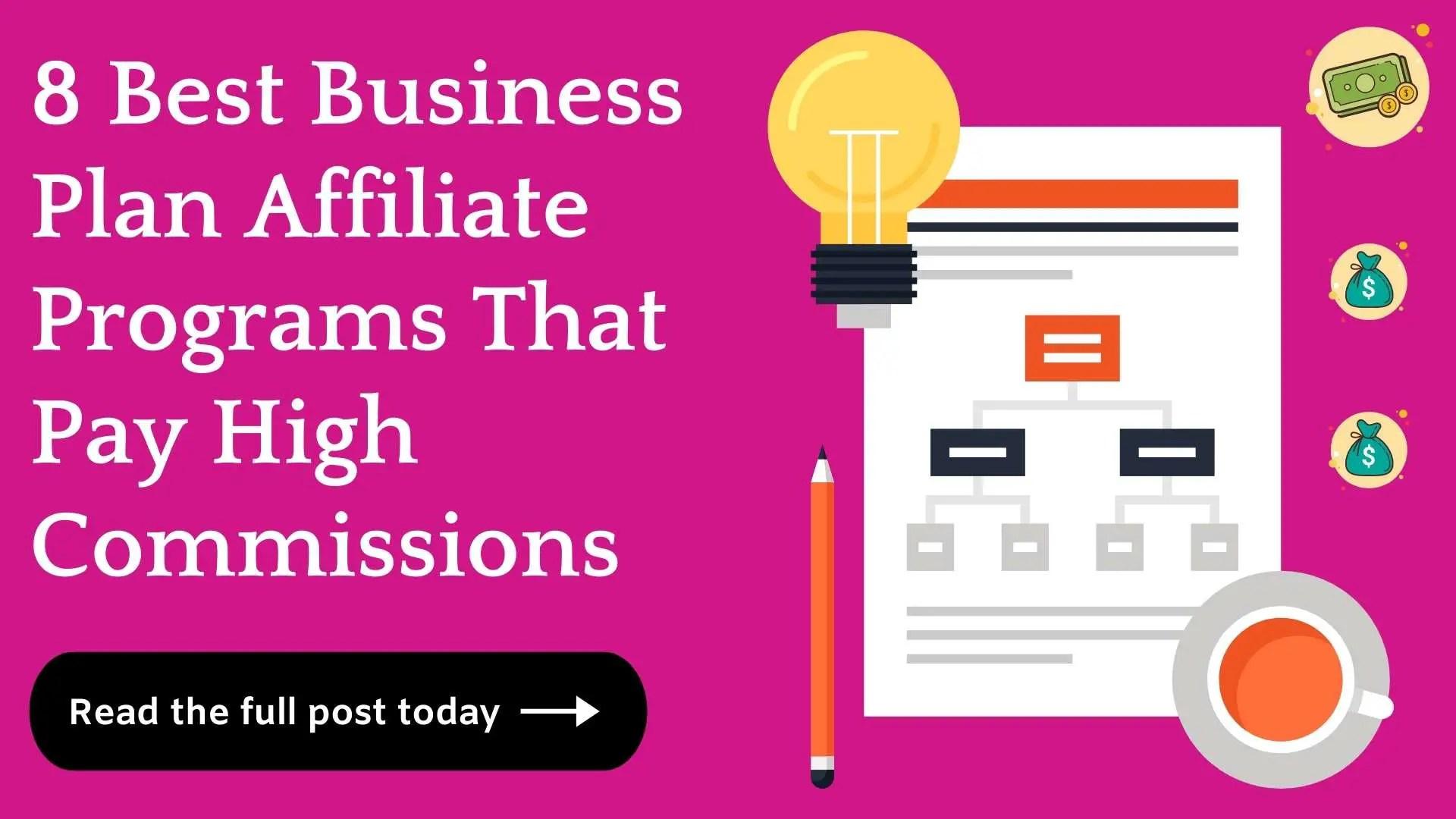 Best Business Plan Affiliate Programs