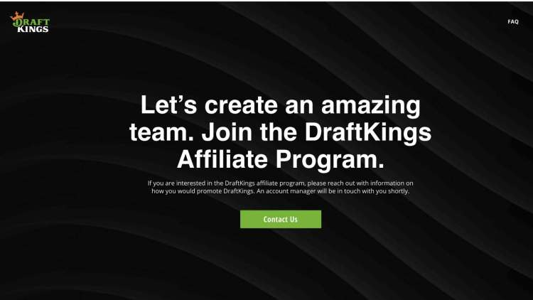 DraftKings affiliate program signup page